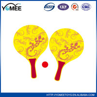 High quality useful best delivery wooden beach racket with net bag