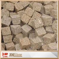 G682 Yellow Granite Cube Stone