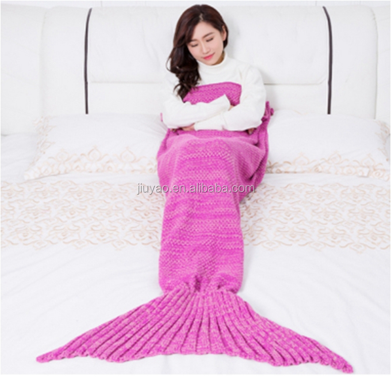 Adult Mermaid Tail Knitted Blanket knitted mermaid blanket mermaid blanket sleeping bag