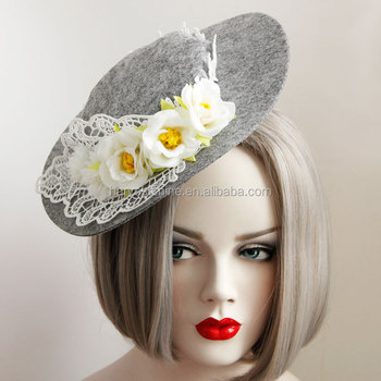 High Quality Felt Hat with Clips,Hair Accessories Custom Fashion Hat