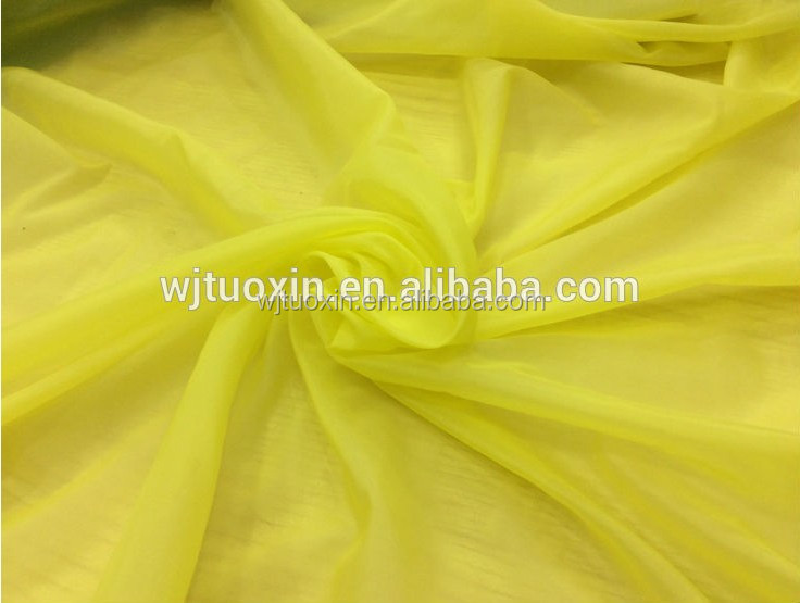 Nylon spandex fabric/waterproof nylon taffeta for down jacket fabric/summer dress fabric lining fabric