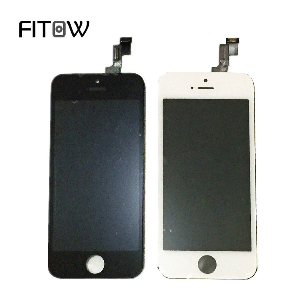 Fitow Wholesale Price High Quality Replacement Digitizer For Iphone 5S LCD Display With Touch <strong>Screen</strong>