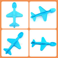 2014 Hot sale Airplane Design PP Plastic Baby Spoon Measuring Spoon Colorful Plastic Spoon