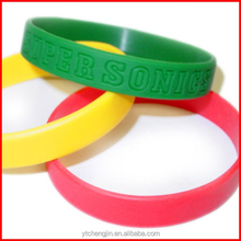 country flags color silicone bracelet / glow silicone bracelet with sayings