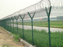 Y type star fence post with concertina razor barbed wire fence manufacturer