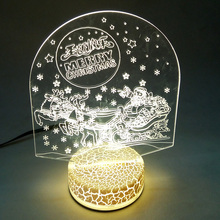 New Arrival Table Decorations Indoor 3D LED Night Light For Christmas Decoration