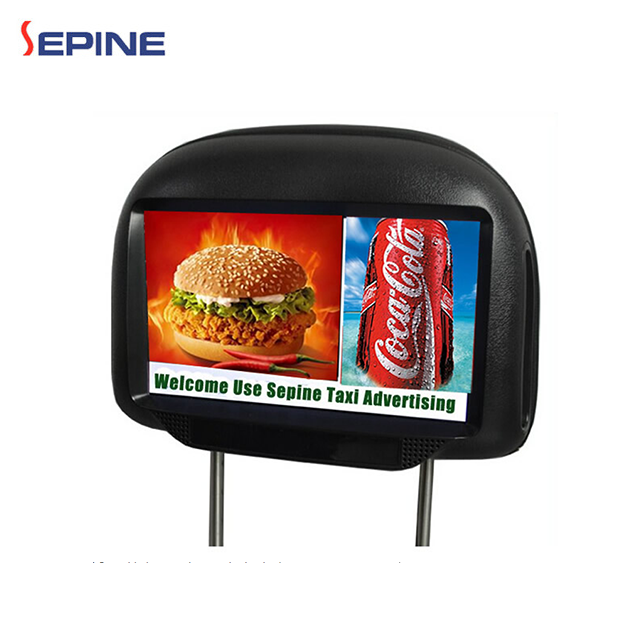 9inch HD taxi headrest dvd player advertising screen with bluetooth