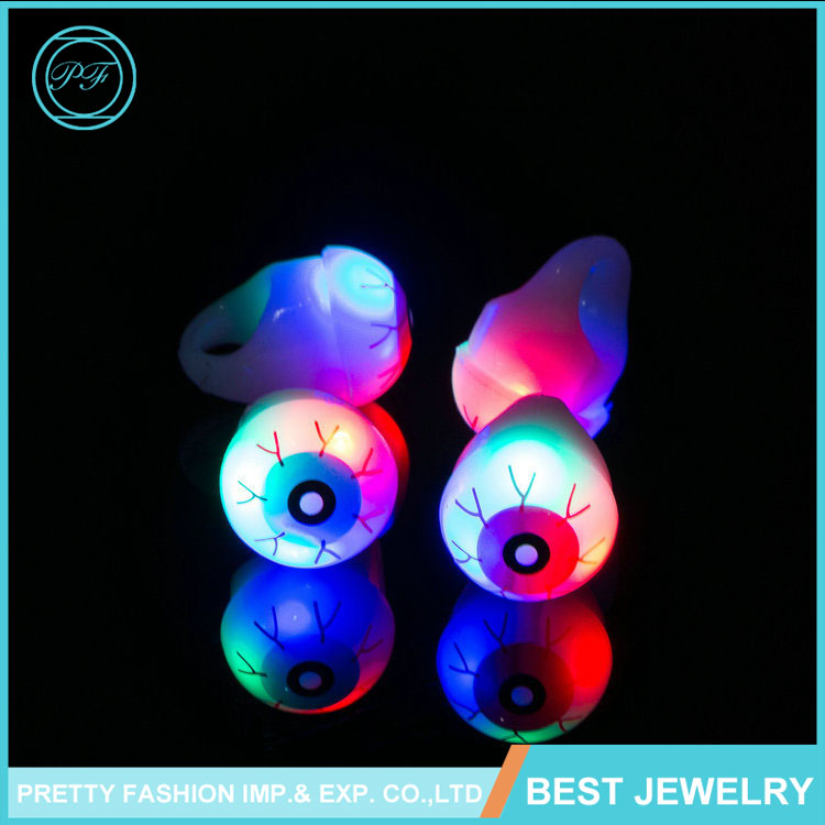 Punk Cool fashion Jewelry Evil Eye Men's Ring Halloween Eco-friendly LED ring