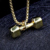 Fashion Trending Simple Gold Pendant Design Dumbbell Pendant For Mens and Women