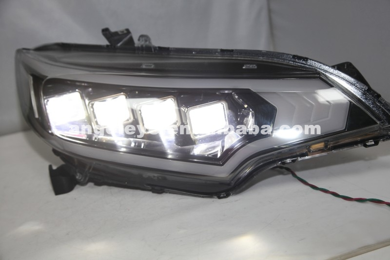 2015 Year For HONDA Fit Jazz LED Head Lamp Black Housing