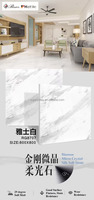 luxury decoration high glossy diamond micro crystal glazed polished porcelain floor tiles