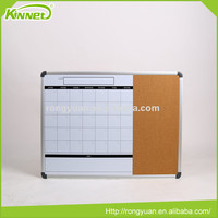 Latest design wholesale custom print calendar whiteboard with pin board