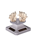 Factory Price Crystal ornament Turntable solar power advertising display 360 Degree solar power rotating display stand