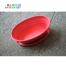 new style bamboo fiber plastic flower pot with sand