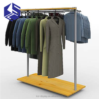 Tailor made durable decent mica decorations building coating,shopping mall garment display rack