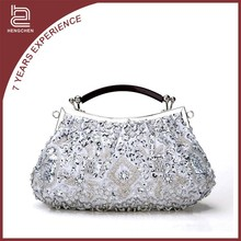 Fashion fancy pearl beaded handmade bag women evening bag