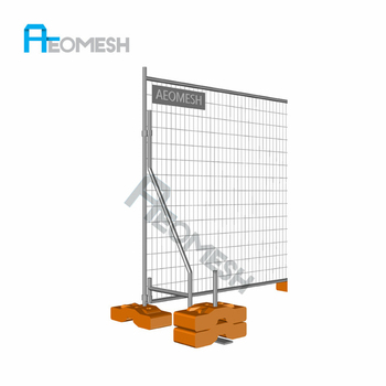 Construction Site Most Convenience cheap yard fencing composite picket fencing concrete temporary fence feet