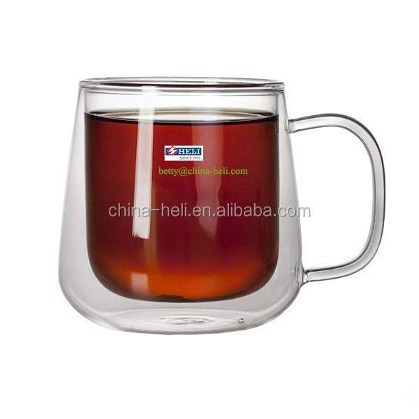 promotion Couples glass cup with handle