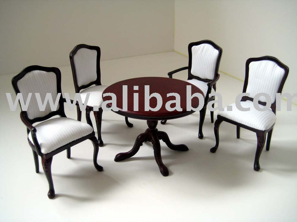 Dollhouse Furniture Miniatures Dining Room Set