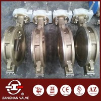 PTFE seat RPTFE butterfly valve for air duct 3 way