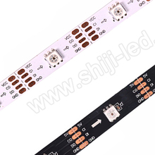 Christmas decoration apa102 rgb dream color strips with connector ies file 5050 smd flexible led strip