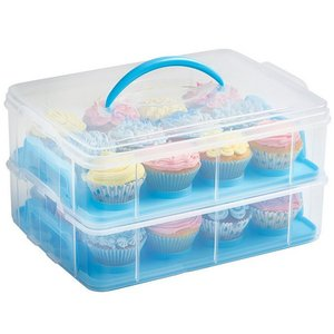 Snap and Stack Blue 3 Tier Cake Carrier Container