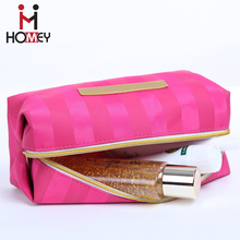 Promotional oem latest fabric wholesale travel oxford cosmetic bag with zipper and logo