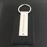 High Quality Genuine Leather Keychain Handmade Leather Keychain Laser Logo Keyrings