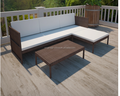 outdoor poly rattan lounge set three-seat sofa/garden outdoor furniture