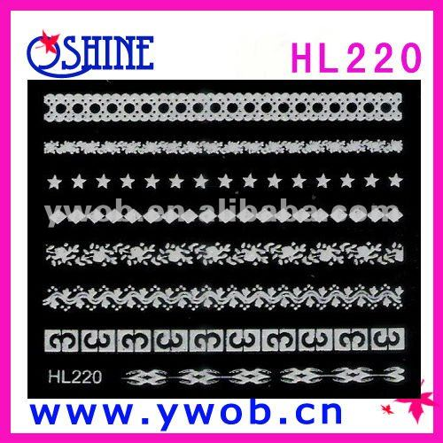 Promotional 3D nail sticker/design sticker nail art