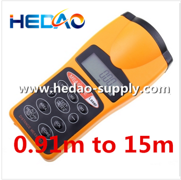 Ultrasonic Distance Measurer Area & Volume Calculator with Laser point