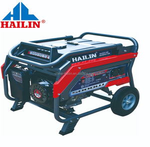HAILIN CHINA 170F 5kw kva portable alternator gasoline generator with optional wheels for home use