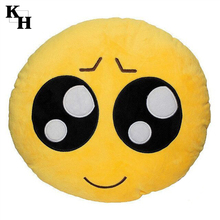 Wholesale custom whatsapp ball shape emoji memory foam pillow
