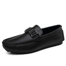 Cow Leather Driving shoes Soft Flats Heel Loafers Driving Car Round Toe Man shoes PU Lining Outdoor Boy Hiking Shoes