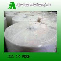 100% cotton jumbo gauze roll bleached white color