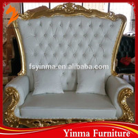 low price china carved solid wood chesterfield sofa