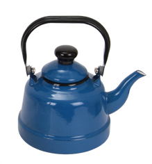 Blue Enamel Kitchen Accessory Cookware Wholesale Kettle Mini Ancient Clock Teapot