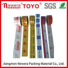 Hot sale Strong glue of Bopp adhesive logo printed tape packing tape