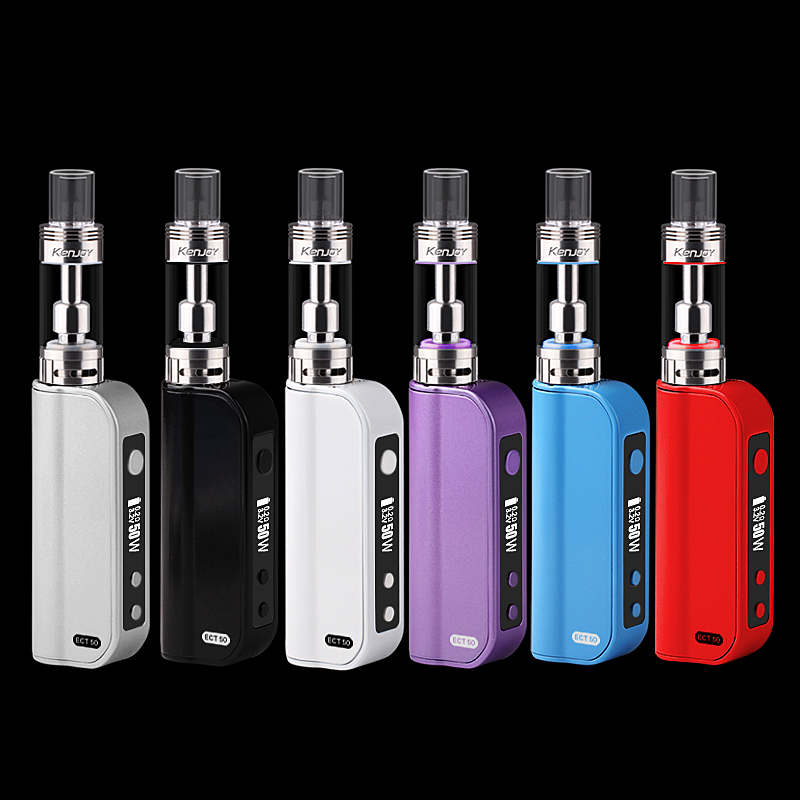 2016 ECT 2200mah 5W-50W variable wattage vaporizer ET50 update kit box mod electronic cigarette