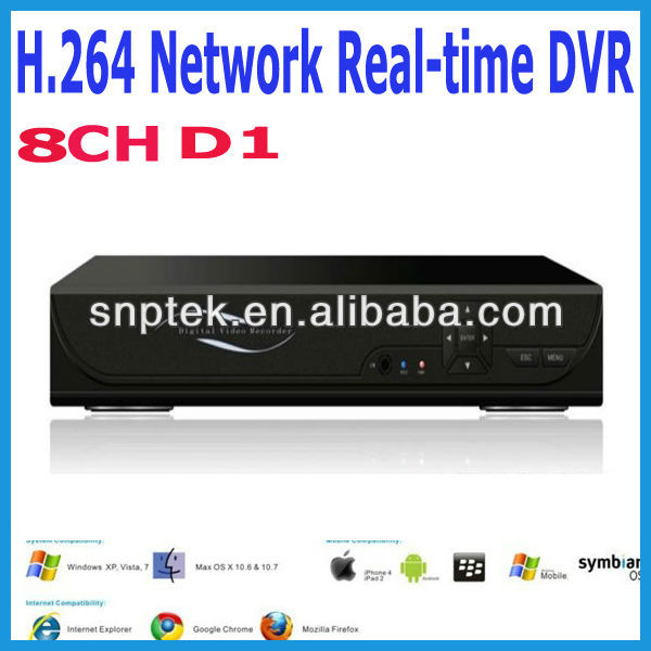 HOT SALE H.264 Network D1 real time 8CH CCTV security surveillance DVR digital video recorder
