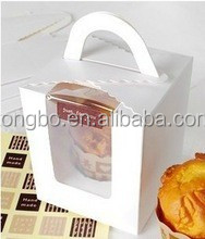 Whloesale Single Cup White Portable Window Cup Paper Cake Box,cup cake box,cookie box