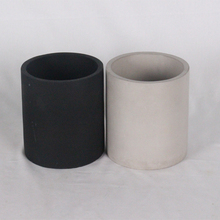Unique concrete candle jars / black luxury candle holder designed for home decor
