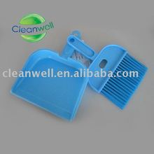 mini blue dustpan and brush
