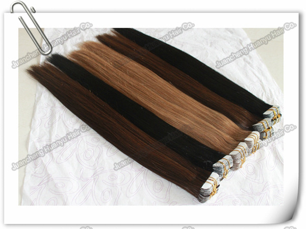 glue tape human hair weft 14inch 20inch 24inch beauty queen hair