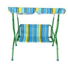 Hot sale high quality metal swing sets adults stripe swing chair