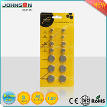 watch battery AG13 alkaline button cell with long life span