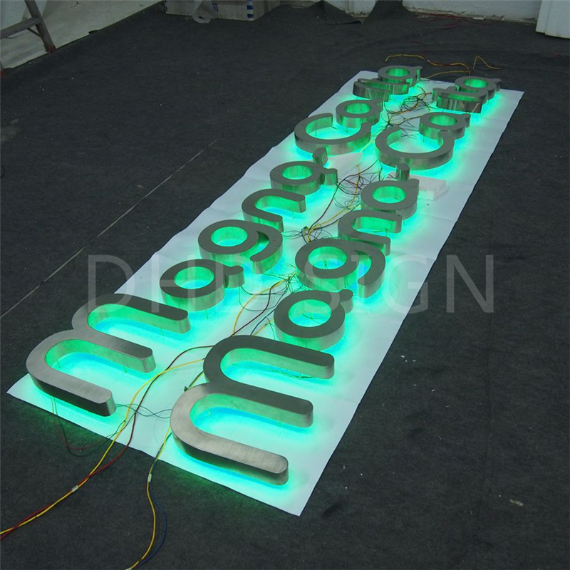 Manufacturer Supplier advertising halo lit company name sign letters for sale