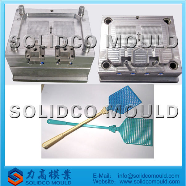 2013 TaiZhou cheap plastic fly swatter mould manufacturer