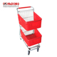 High Quality Double Plastic Baskets Supermarket Shopping Cart