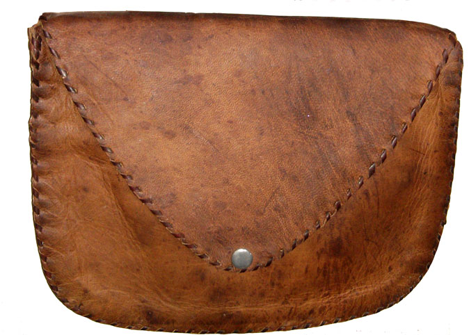 Embossed Genuine Leather Bag, Pouch, Handbag, Clutch and Purse with Natural Tan